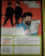 GAGNER UN AN D ABONNEMENT AU JOURNAL TINTIN HERGE HADDOCK ET LES DUPONT DUPOND - Collections