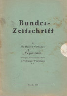 """Bundes-Zeitschrift Des Altherren-Verbandes """"AGRONOMIA"""", Wolfsanger-Witzenhausen 1953, Studentika, Landwirte - Riviste & Giornali"""