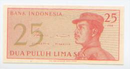 Billet De Banque, Banknote, Biglietto Di Banca, Bankbiljet, Indonésie, Indonesia, 25 Dua Puluh Lima Sen, 1964, NEUF - Indonésie