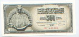 Billet De Banque, Banknote, Biglietto Di Banca, Bankbiljet, Banka Jugoslavije, Yougoslavie, 500 Dinara, 1986, NEUF - Yougoslavie
