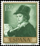 ESPAÑA SEGUNDO CENTENARIO NUEVO Nº 1217 ** 1,80P VERDE AMARILLO GOYA - 1931-Aujourd'hui: II. République - ....Juan Carlos I