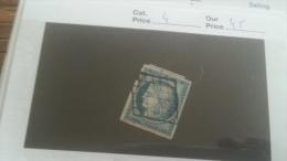 LOT 232607 TIMBRE DE FRANCE OBLITERE N�4 VALEUR 60 EUROS