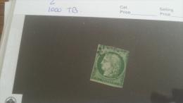 LOT 232666 TIMBRE DE FRANCE OBLITERE N�2 VALEUR 1000 EUROS TB