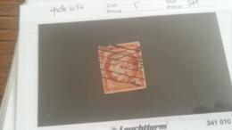 LOT 232672 TIMBRE DE FRANCE OBLITERE N�5 VALEUR 575 EUROS GRILLE SANS FIN