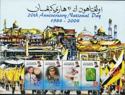 SA0070 Brunei 2004 Constitution Of Sudan Independence Day Flag S/S(4) MNH - Brunei (1984-...)