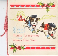 POLICE  CHRISTMAS CARD  1940  WITH  DOGS - Police - Gendarmerie