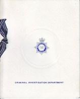 CHRISTMAS CARD  METRO.  POLICE  CRIMINAL  INVESTIGATION  DEPT. - Police - Gendarmerie