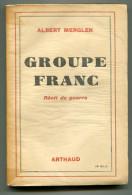 WW2 Albert MERGLEN  Groupe Franc Récit De Guerre 1943 - Guerre 1939-45