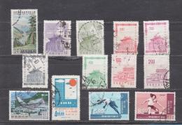 CHINE TAIWAN FORMOSE ENTRE N° 333 ET 627 (o) (YT) 13 TIMBRES TOTAL VALEUR 6,20 EUROS - 1945-... République De Chine
