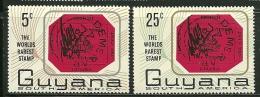 "Guyana     ""Stamp On Stamp""     Set    SC# 26-27    MNH** - Guyana (1966-...)"