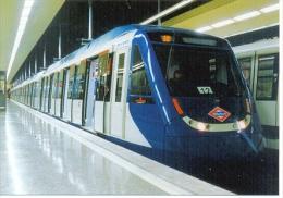 7f-940. Postal F.C. Metropolitano  De Madrid. Estación De Fuencarral - Trenes