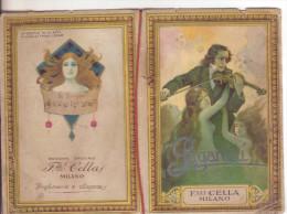 1-Calendarietto Da Barbiere-Paganini 1927-Facciate 14 Di Cui 8 Illustrate-Ed.F.lli Cella-Milano - Calendari
