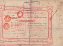 Actions Et Titres Spies Petroleum Company Limited 1907 Compagnie Pétrolière - Shareholdings