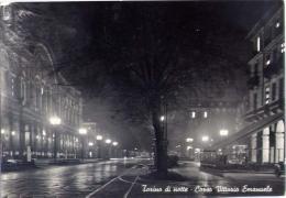Torino - Di Notte - Corso Vittorio Emanuele - 327 - Formato Grande Viaggiata - Italie