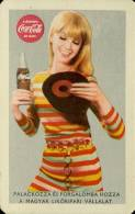 COCA-COLA * SOFT DRINK * WOMAN * GIRL * RECORD * CALENDAR * MLV 1970 * Hungary - Tamaño Pequeño : 1961-70