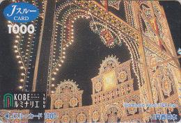Rare carte pr�pay�e Japon - FESTIVAL de KOBE / Illuminations 1999 - Luminarie Japan prepaid JR J card - 10