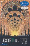 Carte Prépayée Japon - FESTIVAL De KOBE / Illuminations 2000 - Luminarie Japan Prepaid JR J Card - 13