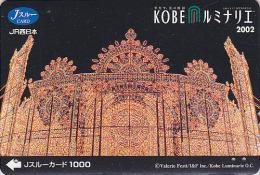 Carte pr�pay�e Japon - FESTIVAL de KOBE / Illuminations 2002 - Luminarie Japan prepaid JR J card - 18