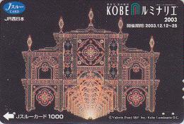 Carte pr�pay�e Japon - FESTIVAL de KOBE / Illuminations 2003 - Luminarie Japan prepaid JR J card - 23