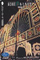 Carte pr�pay�e Japon - FESTIVAL de KOBE / Illuminations 2006 - Luminarie Japan prepaid JR J card - 26