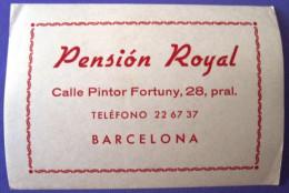 HOTEL RESIDENCIA PENSION HOSTAL MOTEL MOTOR ROYAL BARCELONA SPAIN LUGGAGE LABEL ETIQUETTE AUFKLEBER DECAL STICKER MADRID - Hotel Labels