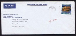 COOK IS.   1981 Air Mail Cover To Hawai    30c Corals - Cook Islands