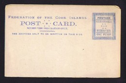 COOK IS.   1892   Postcard For Domestic Use - Postal Stationery - Cook Islands