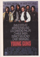 FILM ADVERT CARD -'YOUNG GUNS ' - Publicité