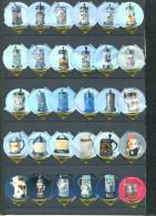 1189 D - Verre a biere (Chope) Serie complete de 30 opercules Suisse SANS Emmi
