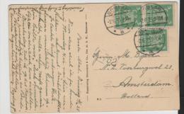 W151/ Reichsadler 5 Pfg. (3 X) 1925 , Goslar Nach Holland Aus AK - Briefe U. Dokumente