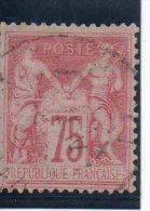 N°81 75 Cent N Sous U Timbre Superbe Belle Obliteration Net 30 E - 1876-1898 Sage (Type II)