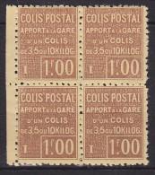 France - Colis Postaux Bloc De 4 Yvert N° 48 Luxe MNH - Cote 144 Euros - Prix De Départ 36 Euros - Neufs
