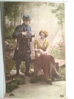Guerre De 1914, Scène En Sous Bois, Soldat De Cahors - War 1914-18