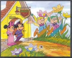 Mmk448 WALT DISNEY MICKEY SCHOENMAKER BLOEMEN SHOEMAKER FLOWERS GEBR GRIMM GRENADA GRENADINES 1985 PF/MNH - Disney
