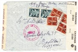 Italien 1945 Zensurbrief Von Florenz Nach Basel - 1944-46 Lieutenance & Humbert II