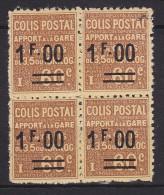 France - Colis Postaux Bloc De 4 Avec Ptite Variété D'impr Yvert N° 47 Xx MNH - Cote 116 Euros - Prix De Départ 29 Euros - Mint/Hinged