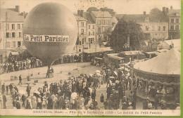 1906  ; BRETEUIL :    9  SEPTEMBRE  1906   ; LE  BALLON  DU  PETIT  PARISIEN     Animee - Breteuil