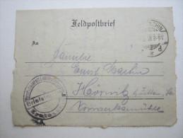 1918,  KROTOSCHIN   Feldpostbrief    Mit Truppensiegel  + Inhalt - Brieven En Documenten