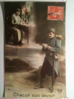 Guerre De 1914, Chacun Son Devoir, Envoyée à Beaulieu (Corrèze) - Guerre 1914-18