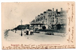 CP, ROYAUME-UNI, ANGLETERRE, KENT, RAMSGATE, Granville Hôtel And Promenade, Dos Simple, Voyagé En 1903 - Ramsgate
