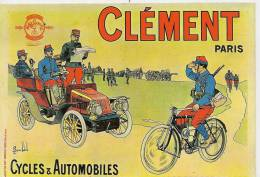 4 - CLEMENT PARIS CYCLES & AUTOMOBILES - Déssin: BOMBLED ? - Illustrateurs & Photographes