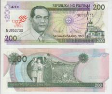 Philipines 200 Piso 2011 Pick NEW UNC UST - Philippines