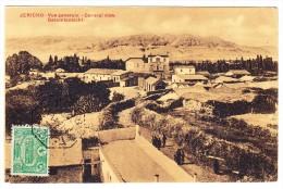 AK Palästina 1913 Jericho Gesamtansicht 10p. Türkische Marke Stempel Jerusalem 3 Gesendet Nach Paris - Palestine
