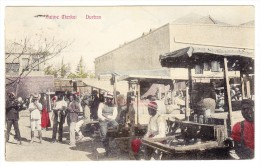 Südafrika - 1907 1d Natal Zentrum Stempel Durban Nach Lorenzo Marques AK Mit Schöne Marktszene - Afrique Du Sud
