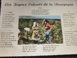 CPSM Folklore De France Les Joyeux Enfants De La Bourgogne Chanson Vigneron Vigne  Carte Postale Pr Gif-sur-Yvette - Muziek