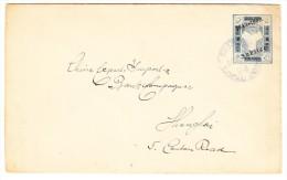 China 1894 Ganzsachen Brief Shanghai Local Post 5c. überdruck Kein Ankunfts-Stempel - Chine