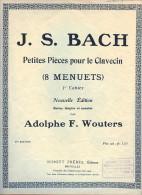 Partition - J.S. BACH - Petites Pièces Pour Le Clavecin (8 Menuets) - Klassik