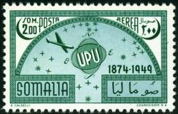 SOMALIA, AFIS, POSTA AEREA, AIRMAIL, UPU, 1953, FRANCOBOLLO NUOVO (MNG), Scott C36 - Somalie (AFIS)
