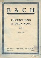 Partition Pour Piano - J.S. BACH - Inventions à Deux Voix. - Klassik
