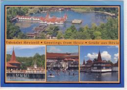 Üdvözlet HEVIZRÖL, Greetings From HEVIZ - Multi View, Large Format,  Nice Stamp - Ungarn